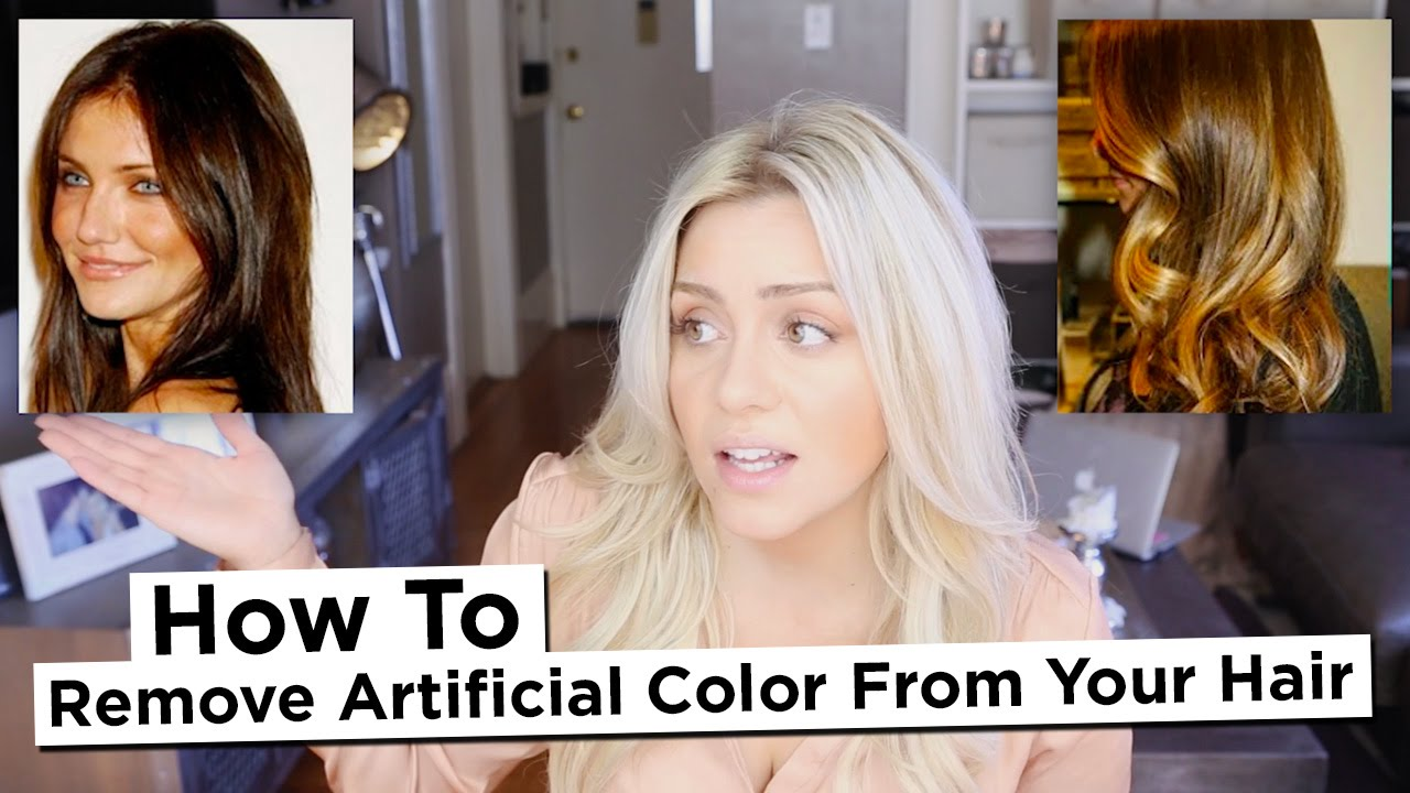 Diy How To Remove Artificial Color From Your Hair Including Reds