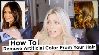 DIY - How to Remove Artificial Color from your hair, Including Reds and Intense Dark Colors