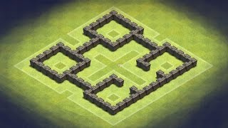 Clash of Clans - TH4 Farming Base (TheFort)
