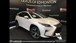 White 2019 Lexus RX 350 Executive Package Review Edmonton Alberta - Lexus of Edmonton New
