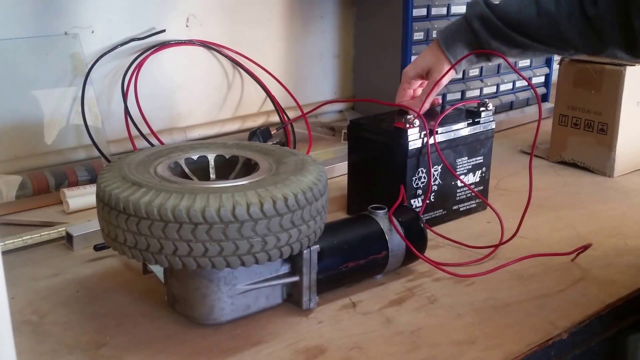 Wheel Chair Motor Ikea Red Wheelchair And 12v Battery Test Youtube