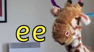 Geraldine the Giraffe learns /ee/ sound