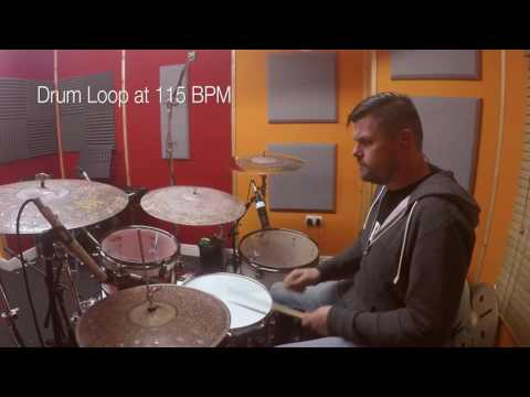 115 bpm - Simple Straight Beat - LIVE Drum Track/Loop/Metronome
