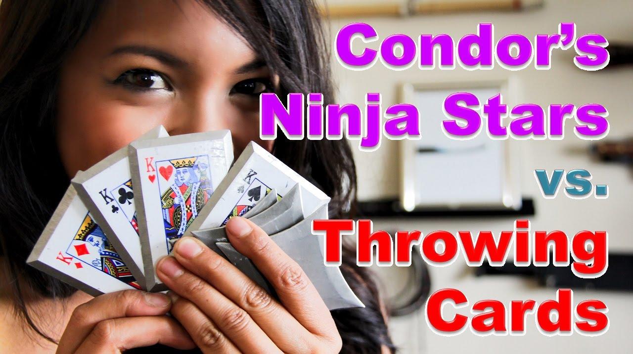 Condors ninja stars vs throwing cards part 1 youtube reheart Choice Image
