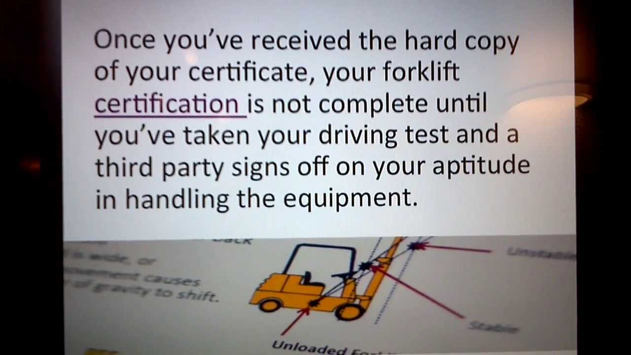 Forklift Certification As Easy As 1 2 3 Youtube