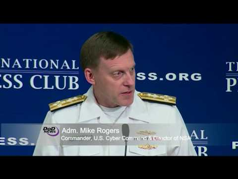 Cybercom Chief Discusses Cyber Threats at the National Press Club