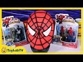 Giant Spiderman Play Doh Surprise Egg with Marvel, Minecraft, Big Hero 6 My Little Pony Blind Bags