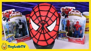 giant spiderman play doh surprise egg with marvel minecraft big hero 6 my little pony blind bags