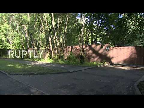 LIVE outside US diplomatic staff's dachas in Moscow after Russia responds to US sanctions