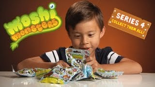 MOSHI MONSTERS SERIES 4 Moshlings - Opening 10 blind packs (PART 1) ULTRA RARE GOLD!