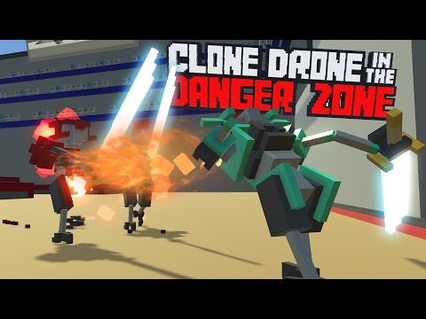 Clone Drone in the Danger Zone - Flame Breath Weapon! - Inferno Challenge - Clone Drone Gameplay
