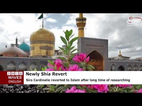 Portuguese Christian Reverts to Shia Islam at Imam Redha Holy Shrine .2016/06/22
