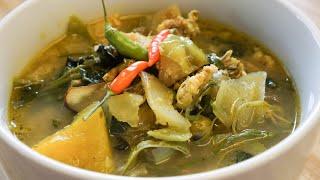 Most favorite local Soup - Khmer mix vegetables soup