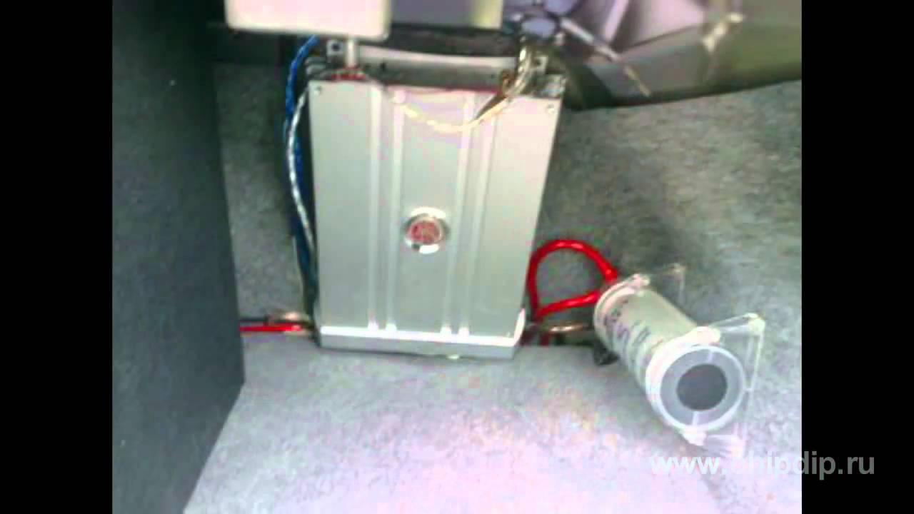 схема подключения аудиосистемыи накоителя в автомобиль