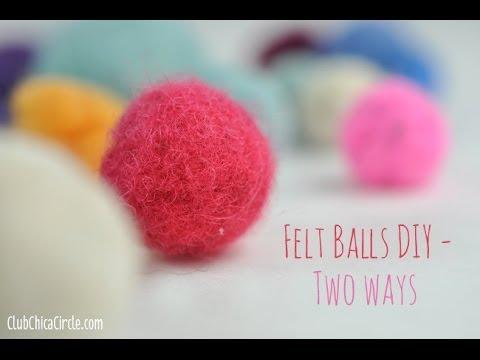 how to make felt balls 2 ways youtube. Black Bedroom Furniture Sets. Home Design Ideas