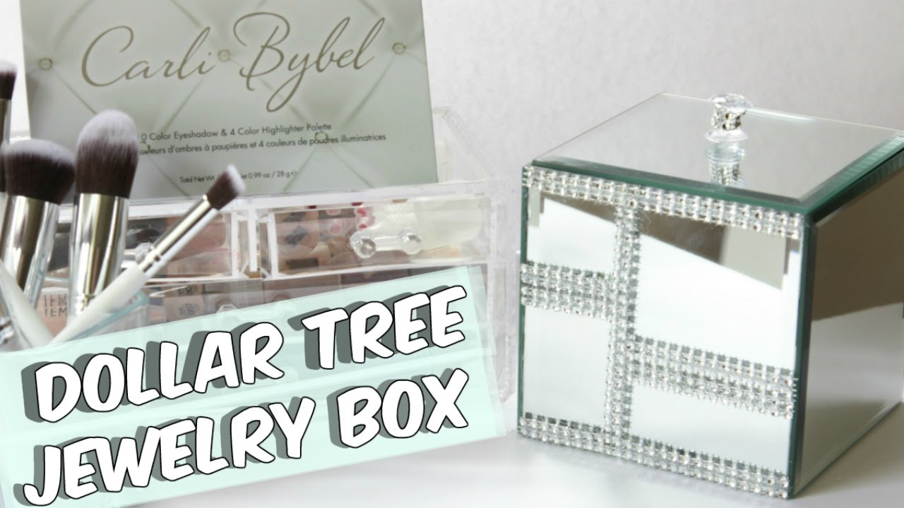 DOLLAR TREE MIRROR JEWELRY BOX TUTORIAL YouTube