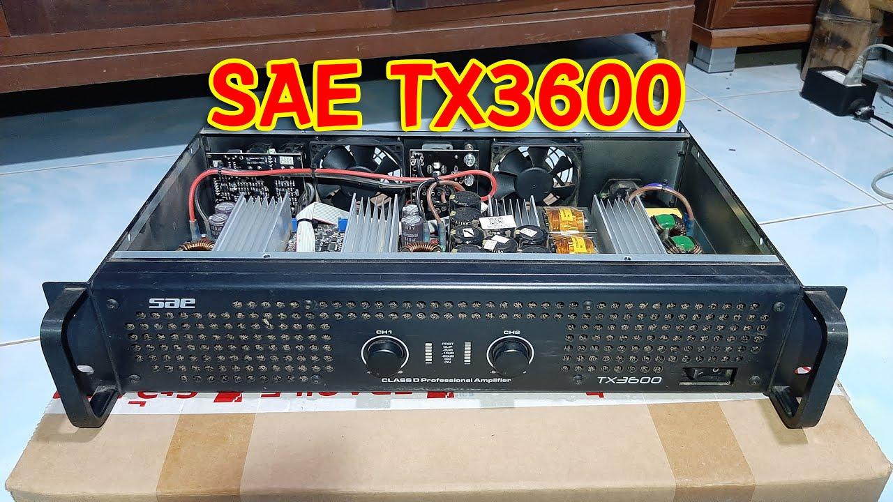 เปิดฝาผ่าดู | เพาเวอร์แอมป์ SAE TX3600