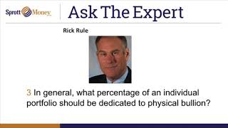 Sprott Money News Ask The Expert - February 2018 Rick Rule