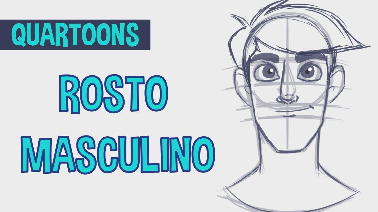 Quartoons 6 Como Esbocar Desenhar Rosto Masculino Estilo Cartoon