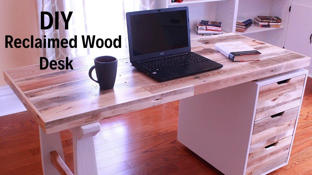 This Beautiful DIY Wood Desk Has a Hidden Laptop Compartment