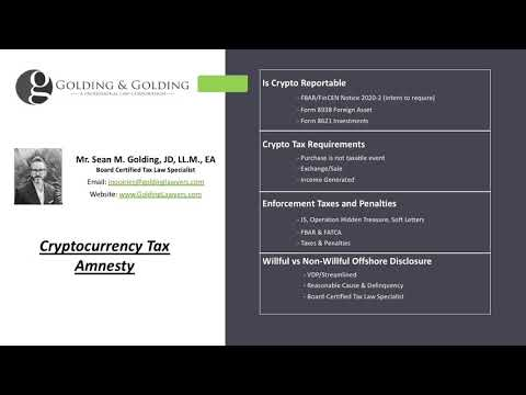 Cryptocurrency Tax Amnesty - Bitcoin US & Offshore