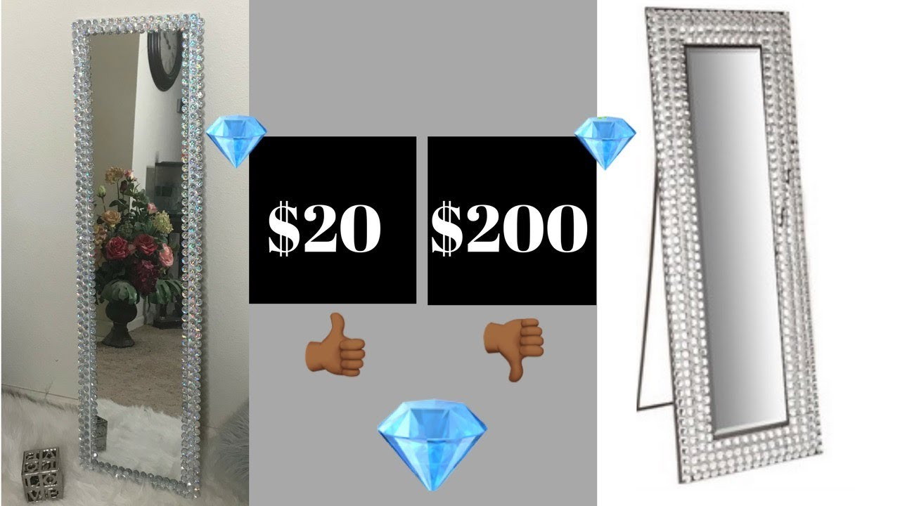 DIY Blinged Out Floor Mirror - YouTube