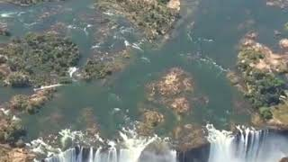 Victoria Falls in southern Africa on the Zambezi