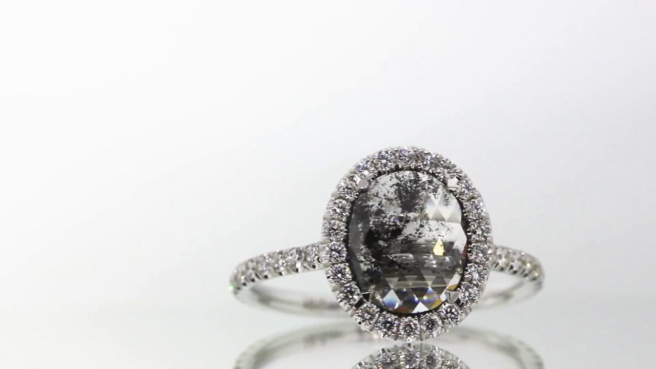 This Salt Pepper Diamond Engagement Ring Is Everything Youtube