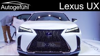 Lexus UX REVIEW new SUV Premiere - Autogefühl