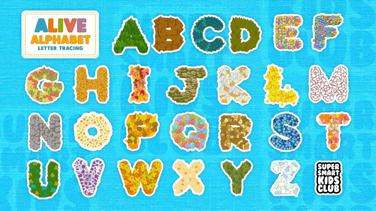 A-Z Letter Tracing with Alive Alphabet App for Kids - YouTube