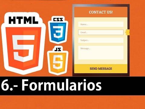 Curso de HTML5 esencial - Formularios, texto, botones, color, listas entre otras.