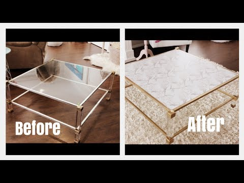 Gold And Marble Coffee Table Makover