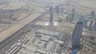 100TH UPLOAD!!! Views from Burj Khalifa, Dubai- 124th floor!!!!!