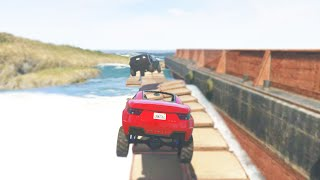 THE OCEAN BRIDGE CROSSING! (GTA 5 Funny Moments)
