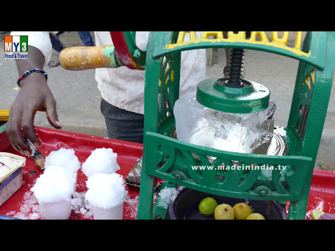 Crushed Ice Lollypop | Indian Street Desserts - Street Food India Ice Gola street food