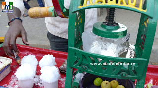Crushed Ice Lollypop | Indian Street Desserts - Street Food India Ice Gola