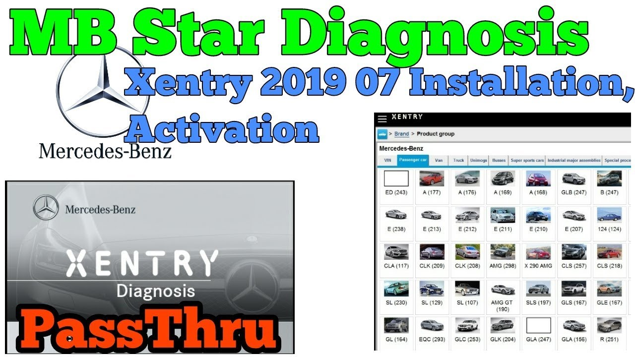 Mercedes Benz MB Star Xentry 2019 07 PassThru Installation And Activation  And SCN Coding Guide