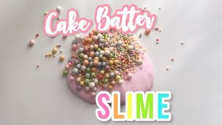 DIY Rainbow Crunchy Cake Batter Slime! (with and without borax)