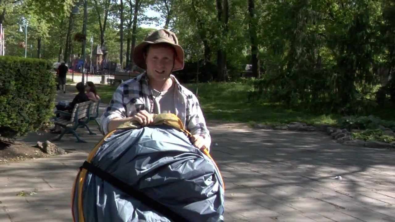 & A Canadian Tire Challenge: Broadstone Pop-up Tent - YouTube
