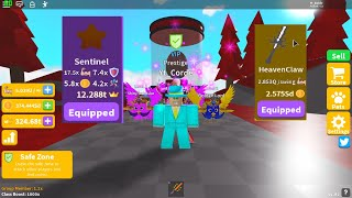 PET LEVELS ⚔️ UPDATE Saber Simulator And i Got best aura and Sword On Roblox