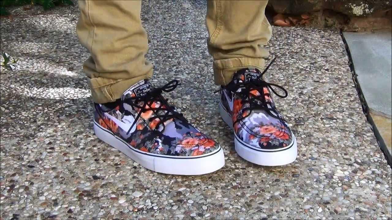san francisco a84be 85ab2 Nike SB Mandarin Digital Floral Janoskis - Review + On Feet - YouTube
