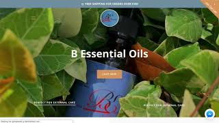 Shopify Design for Bessential Oils