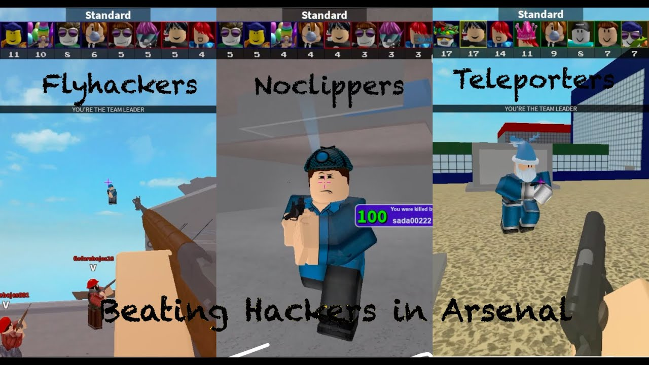how to beat hackers in arsenal roblox