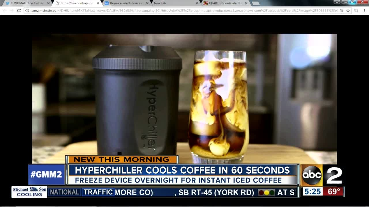 Cool coffee in 60 seconds with the hyperchiller youtube cool coffee in 60 seconds with the hyperchiller malvernweather Image collections