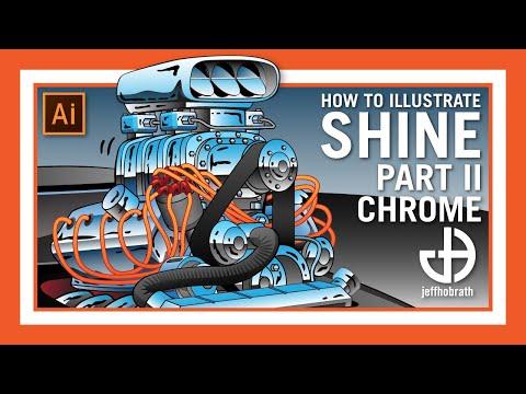 Illustrating Shine Part 2 - Chrome - In Adobe Illustrator | Jeff Hobrath Art Studio