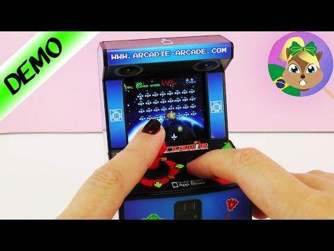 Fliperama Arcade para celular| Jogo Space Invaders com joystick  | Mini fliperama