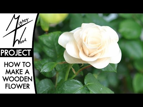 How to Make a Wooden Rose for Mother's Day