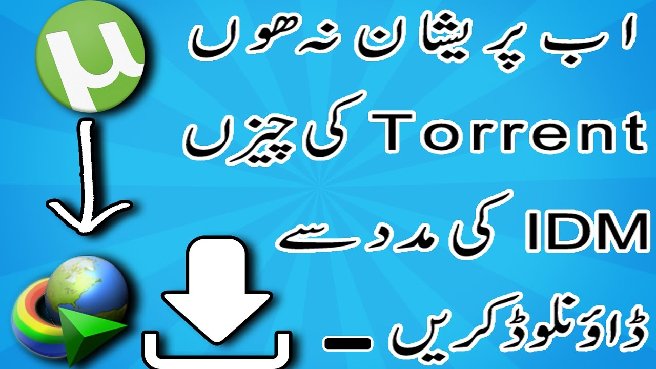 how to download torrent with idm