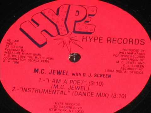 M.C. JEWEL - I AM A POET ( rare 1990 NY rap )
