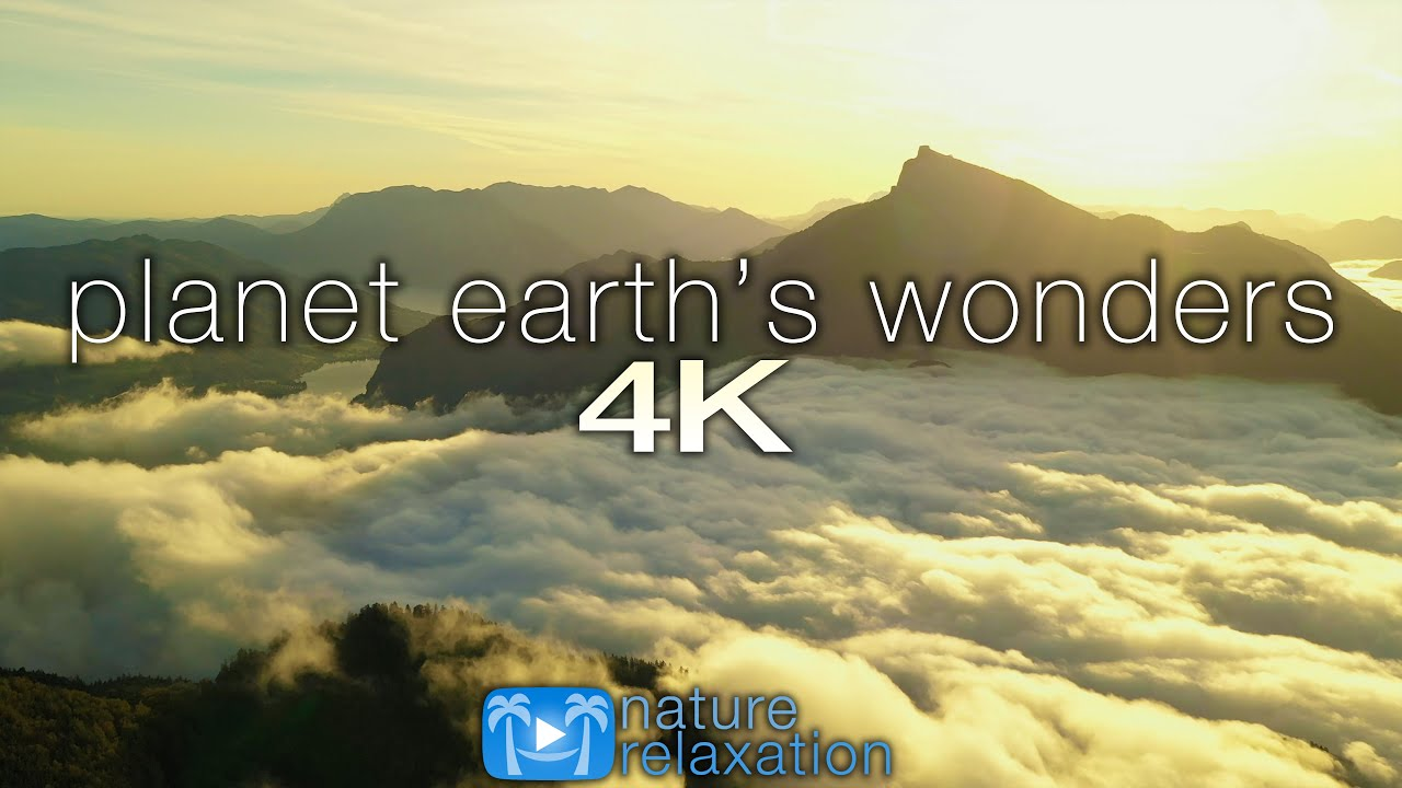 PLANET EARTH'S WONDERS in 4K: Nature Relaxation™ Journey Part V - Epic Drone Footage + Healing
